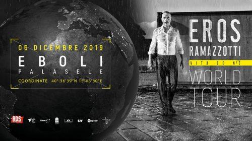 """Vita ce n'è"" al PalaSele di Eboli: venerdì 6 dicembre arriva Eros Ramazzotti"
