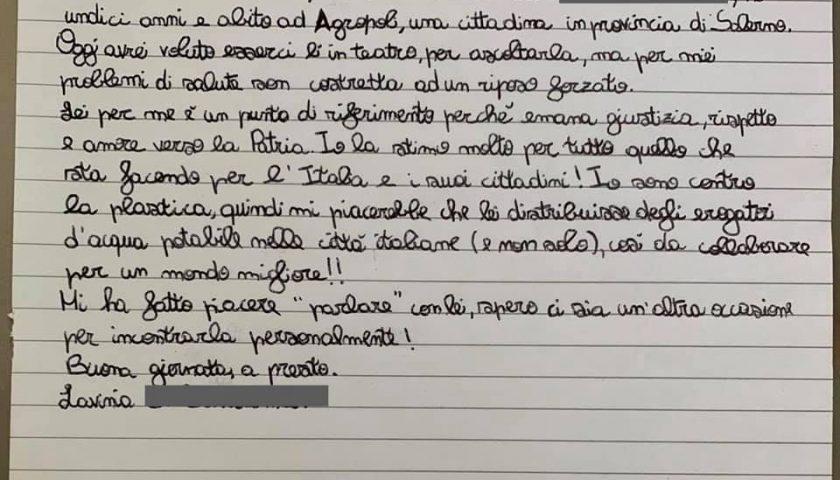 Ragazzina di 11 anni di Agropoli scrive al premier, Conte da Facebook: «Anch'io sono sensibile alle vicende ambientali»