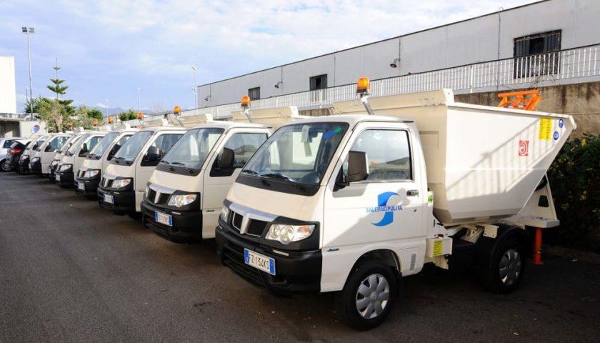 Salerno Pulita rinnova il parco mezzi con 10 nuovi veicoli per la raccolta rifiuti