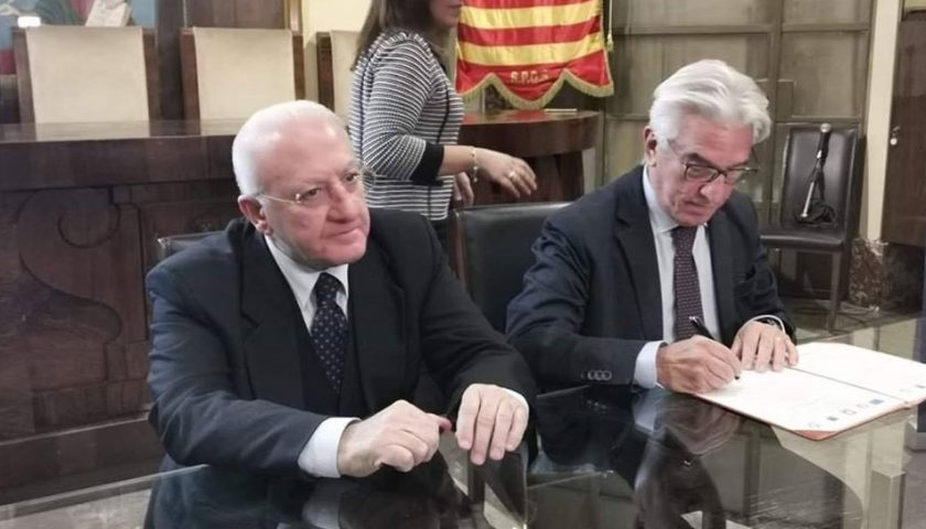 Firmata questa mattina la stipula del Programma Integrato Città Sostenibili per le città di Salerno e Battipaglia