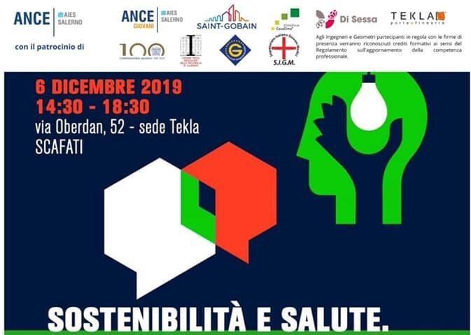 Sostenibilità e salute: l'Ance Aies Salerno ed il Gruppo Giovani organizzano un convegno per discutere di benessere abitativo.