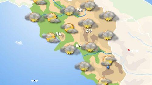 Meteo domani, in Campania pioggia nelle ore mattutine e nevicate in Irpinia e Beneventano