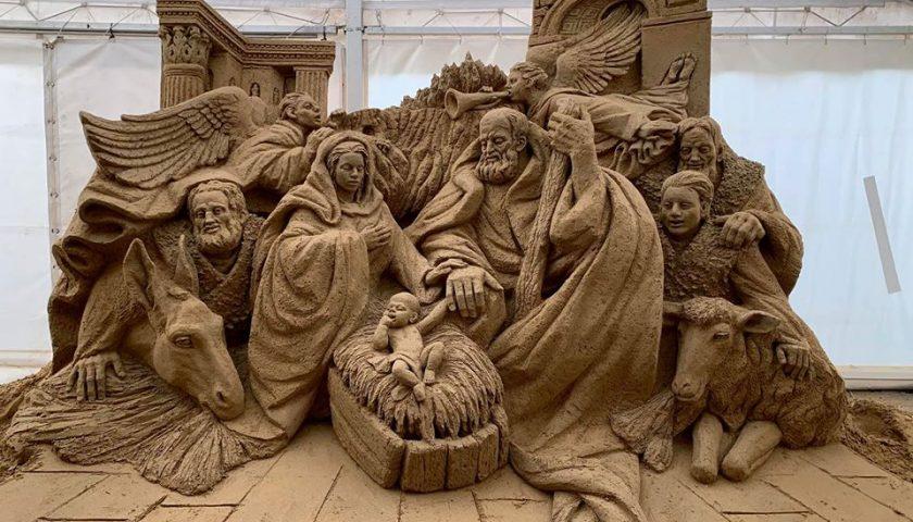 Salerno, il presepe di sabbia resta aperto fino al 19 gennaio