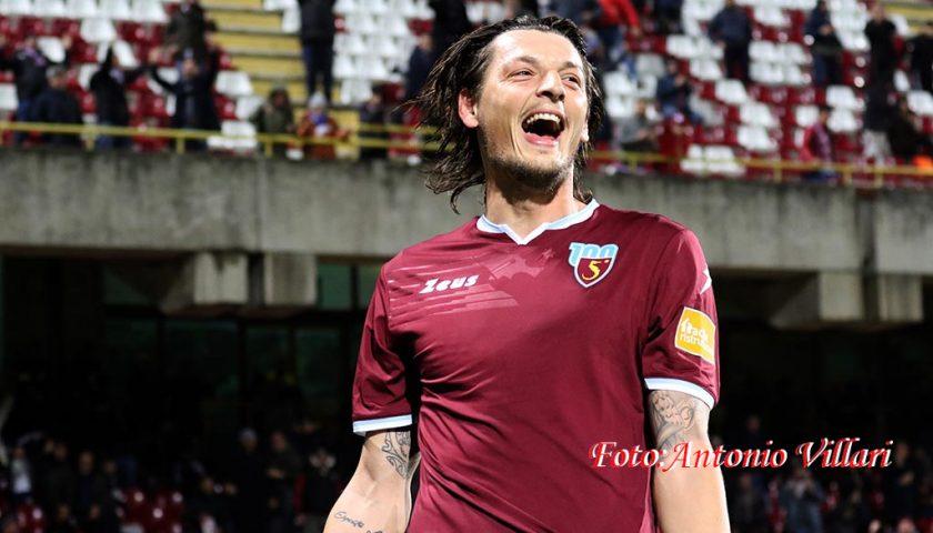 Salernitana, basta un gol di Djuric per battere il Livorno e riprendere la marcia