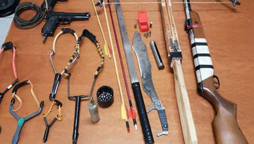Fucili, balestre, katana e pistola in casa: nei guai un 51enne di Montecorvino Rovella