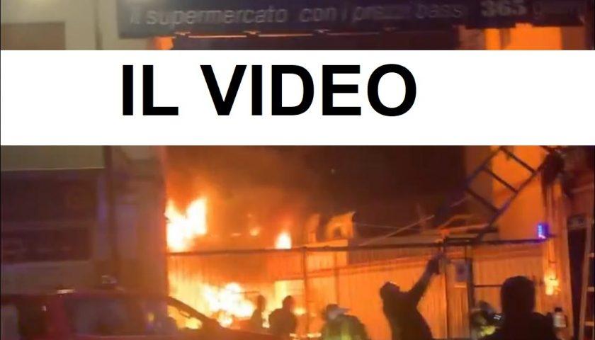 Incendio Sole365 di via Settimio Mobilio