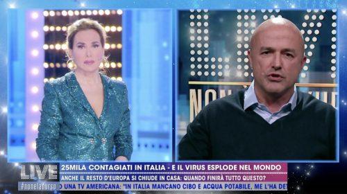 """Il giornalista Nuzzi a """"Live – Non è la D'Urso"""" da un quadro più che pessimistico: ne avremo per tutto il 2021"""