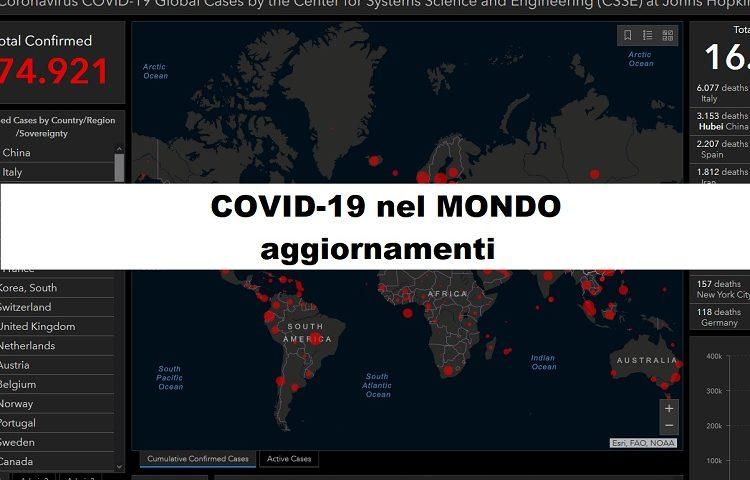 Coronavirus: la situazione nel resto del mondo 4-4-2020. Negli Stati Uniti è caos.