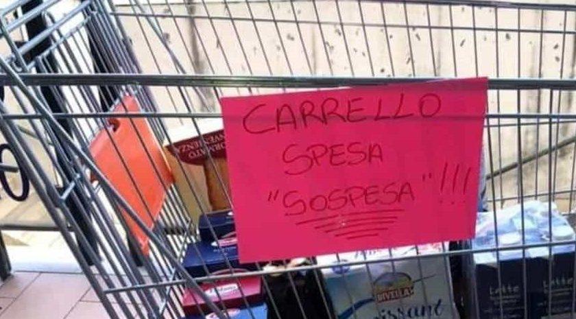 """Attivato anche in provincia di Salerno il sistema della """"spesa sospesa"""""""