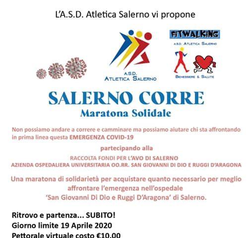 Un pettorale per la maratona di solidarietà, la nuova sfida della Salerno Corre