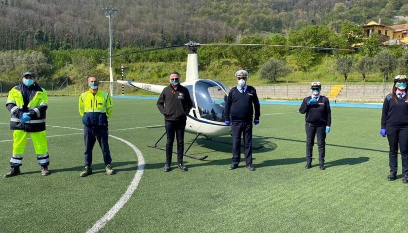 A Pellezzano elicottero in volo per stanare i furbetti di Pasqua e Pasquetta