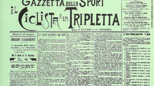 Accadde oggi: il 3 aprile del 1896 esce per la prima volta in edicola La Gazzetta dello Sport