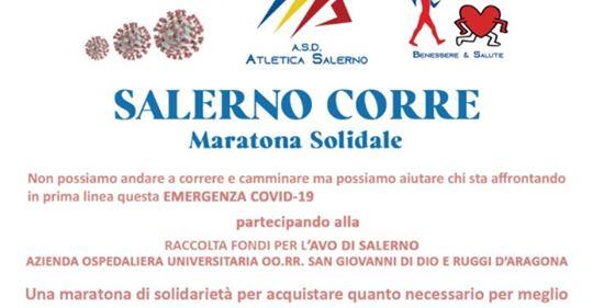 """Salerno Corre – Maratona Virtuale di beneficenza: """"i nostri cuori possono essere più veloci delle nostre gambe"""""""