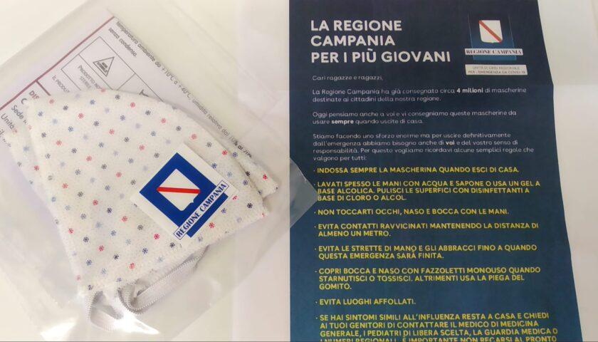 La Regione Campania per i più giovani: in distribuzione mascherine protettive colorate
