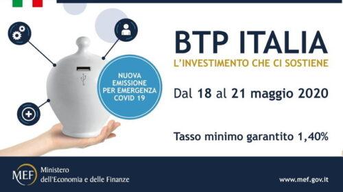 BTP ITALIA 2020: sedicesima tranche