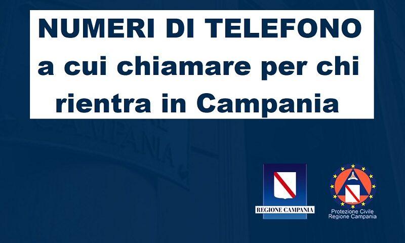 COVID-19, sul ritorno in Campania da altre regioni. I recapiti cui comunicare i rientri
