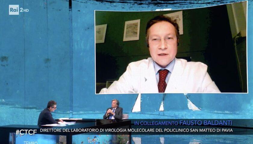 """Ieri a """"Che tempo che fà"""" Fausto Baldanti sulla cura con gli anticorpi dei guariti."""