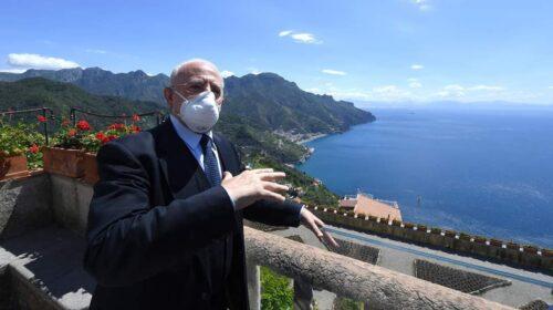 De Luca da Ravello lancia Campania Sicura