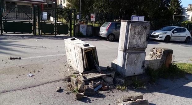 Vandali nella notte a San Marzano sul Sarno: distrutta cabina elettrica, residenti senza corrente