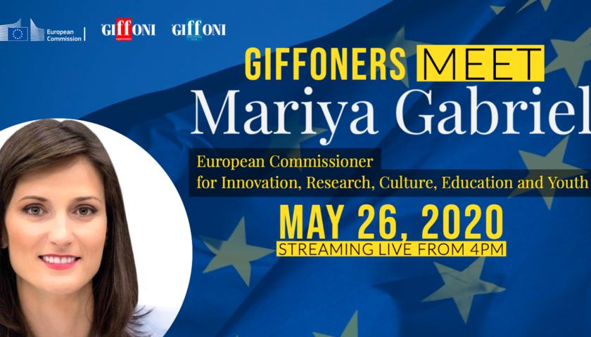 DA GIFFONI ALL'EUROPA: 9 GIFFONERS A CONFRONTO CON IL COMMISSARIO EUROPEO MARIYA GABRIEL PER RINASCERE DALLA CULTURA
