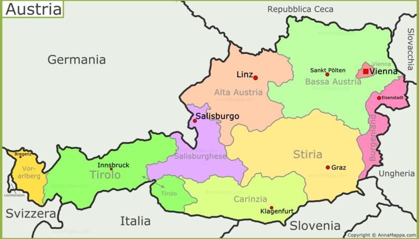 Austria: prolunga stop a treni e aerei da e per l'Italia fino al 22-5