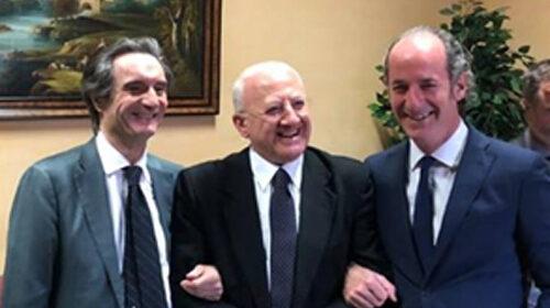 Zaia firma l'ordinanza per il Veneto: doppi tamponi e  per chi viene dall'estero e multe per chi viola l'isolamento. De Luca pronto a seguirlo