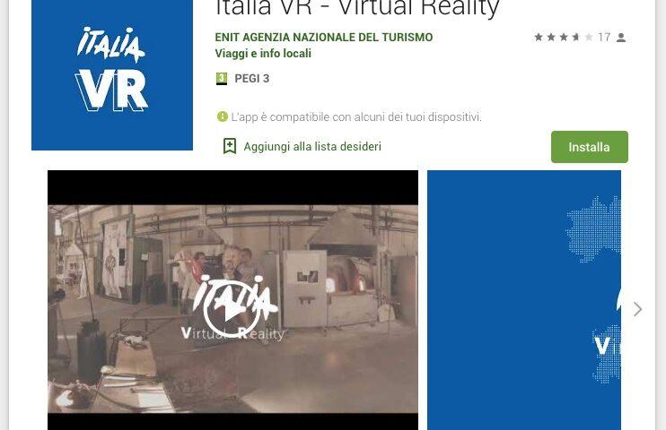 TURISMO: ENIT LANCIA L'APP GRATUITA PER UN VIAGGIO VIRTUALE IN ITALIA