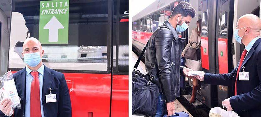Trenitalia distribuisce gratuitamente un kit di sicurezza sui treni ad alta velocità