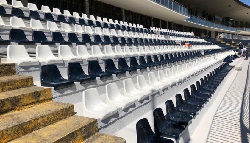 """Cava de' Tirreni, ripresi i lavori allo stadio """"Lamberti"""": a fine maggio arrivano le nuove torri faro"""