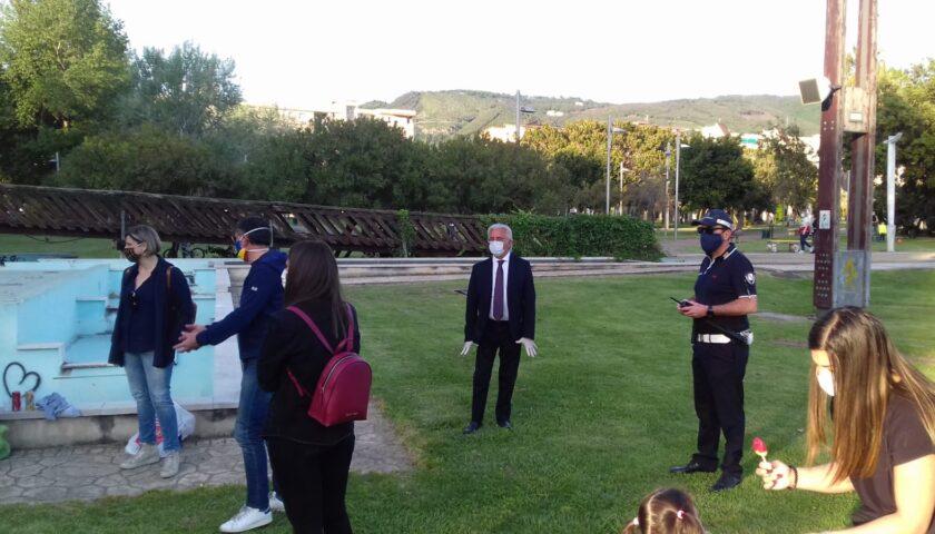 """Controlli al Parco del Mercatello, elevati cinque verbali. Il Sindaco Napoli: """"Dobbiamo essere prudentissimi e rispettosi della nostra e dell'altrui salute"""""""