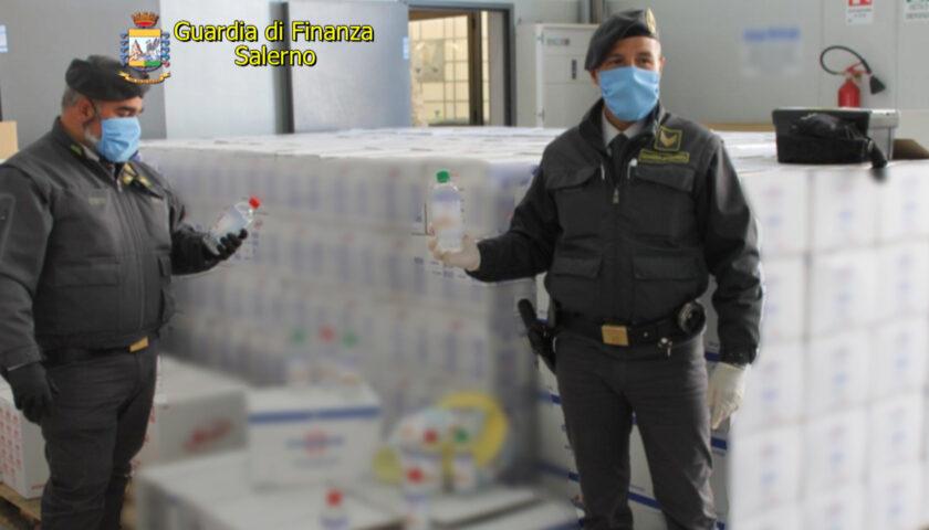 Guardia di Finanza, sequestrate diecimila confezioni di gel igienizzante pericoloso ad Agropoli e Capaccio