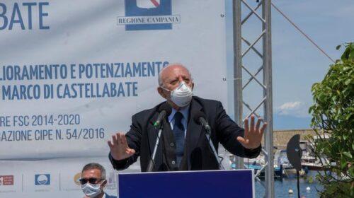 """De Luca da Castellabate: """"La Campania ha il tasso di mortalità più basso d'Italia in relazione al numero di abitanti"""""""