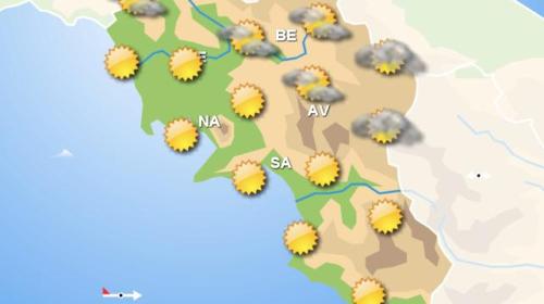 Meteo, domani sole in Campania. Poche variazioni per domenica
