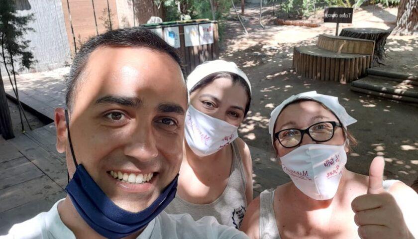 Il ministro Di Maio torna a Palinuro tra bagnanti e selfie