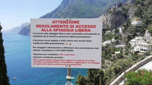 """Spiaggia a Positano a 10 euro, l'associazione tutela e operatori della giustizia e la lega Consumatori: """"Una illegalità, il demanio è della gente"""""""