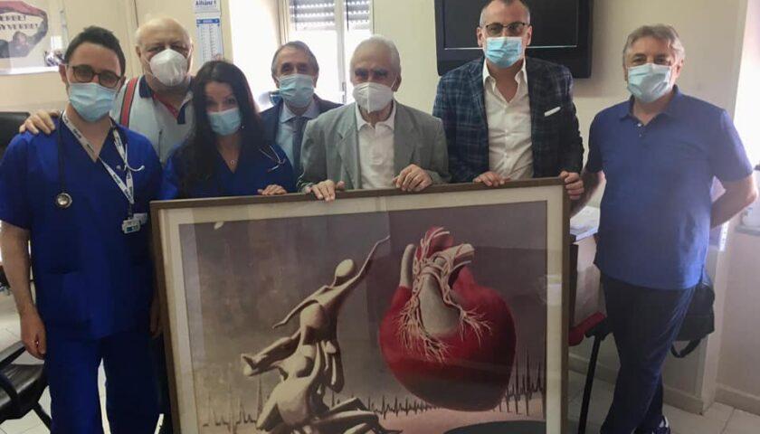 """Si è svolta la cerimonia di consegna dell'opera """"Cuore"""" presso l'ospedale di Eboli"""