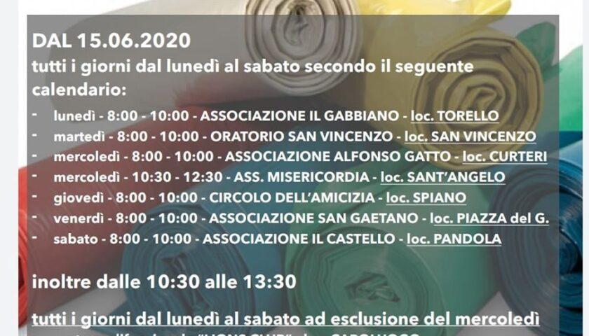 Mercato San Severino – da domani si potranno ritirare i kit domestici di buste per la differenziata