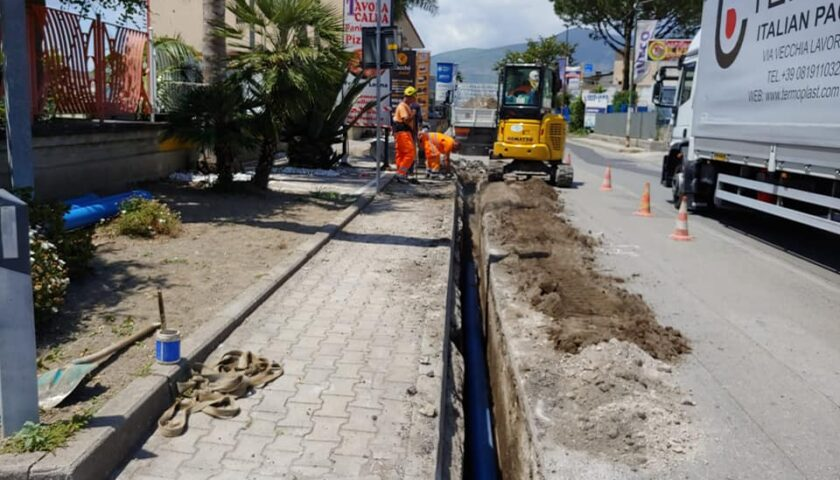 Ripresi i lavori per la realizzazione della nuova rete idrica a Via Provinciale tra Sarno e Nocera