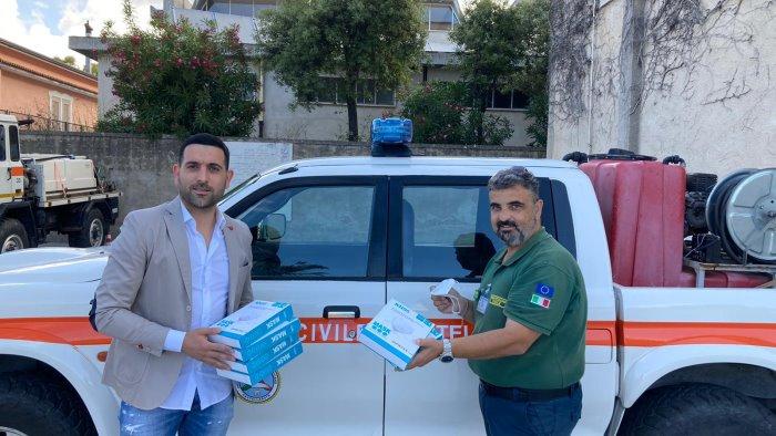 Mascherine donate per il gruppo Lucano della Protezione Civile di Castellabate