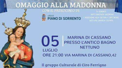 Piano di Sorrento: domenica 5 luglio omaggio alla Madonna del Mare