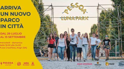 Angri, mercoledì 29 luglio 2020 riapre il Pessoa Luna Park. Gli auguri del Sindaco