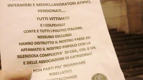 """""""ECONOMIA ITALIANA DISTRUTTA, CGIL CISL E UIL COMPLICI"""". VOLANTINAGGIO E AFFISSIONE DEL SINDACATO SINLAI IN PROVINCIA DI SALERNO"""