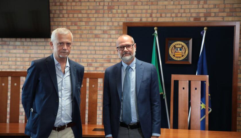 Il Procuratore Capo di Salerno Giuseppe Borrelli in visita all'Università di Salerno