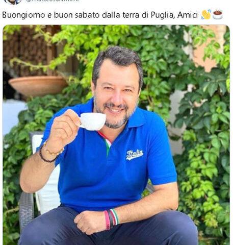 """Salvini dalla Puglia: """"Il Sud è stato tradito, con la Lega c'è una speranza"""""""