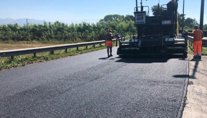Procedono i lavori della provinciale 175 tra Pontecagnano e Battipaglia