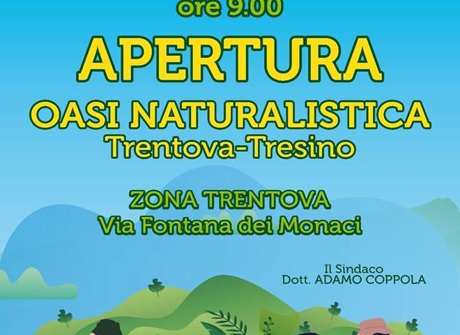 Agropoli – sabato 4 luglio apertura oasi naturalistica a Trentova – Tresino