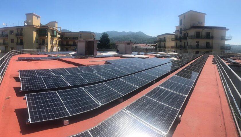Cava de Tirreni – realizzato un impianto fotovoltaico presso gli uffici tecnici e tributi