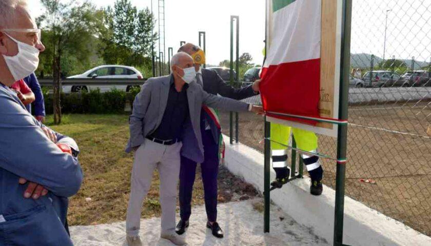 A Roccapiemonte inaugurata l'area sportiva intitolata a Catello Mari