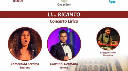 """Eboli – questa sera concerto gratuito nel suggestivo chiostro di San Francesco con """"Li … Ricanto""""."""