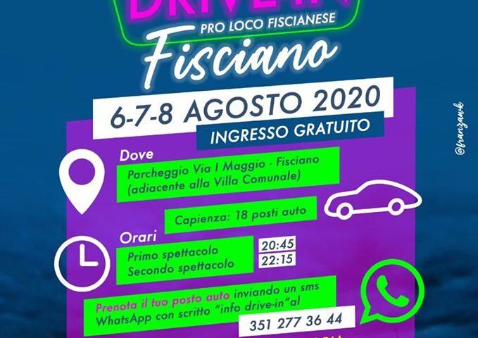 6-7-8 agosto 2020 Drive In a Fisciano